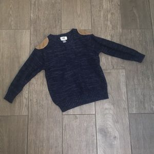 Cotton Sweater with Shoulder Patches